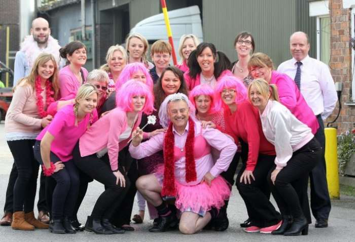 Pink Team At Hj Lea Oakes With Ian The Pink Fairy More Than £1750 E1447839635291 705X481