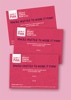 E-invite for a virtual wear it pink