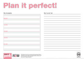 Wear it pink day planner